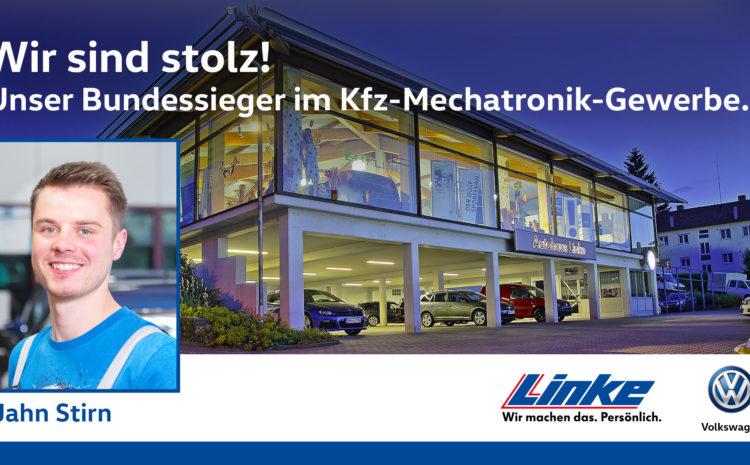 Wir gratulieren Jahn Stirn – Bundessieger im Kfz-Mechatroniker-Gewerbe!